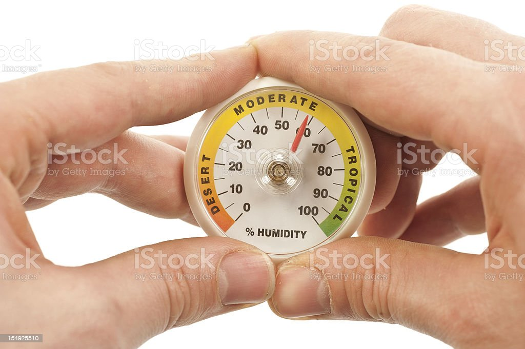 mesaurement of humidity royalty-free stock photo
