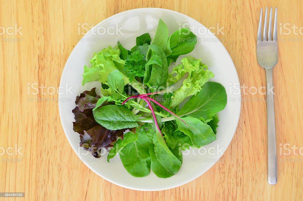 Mesclun salad stock photo