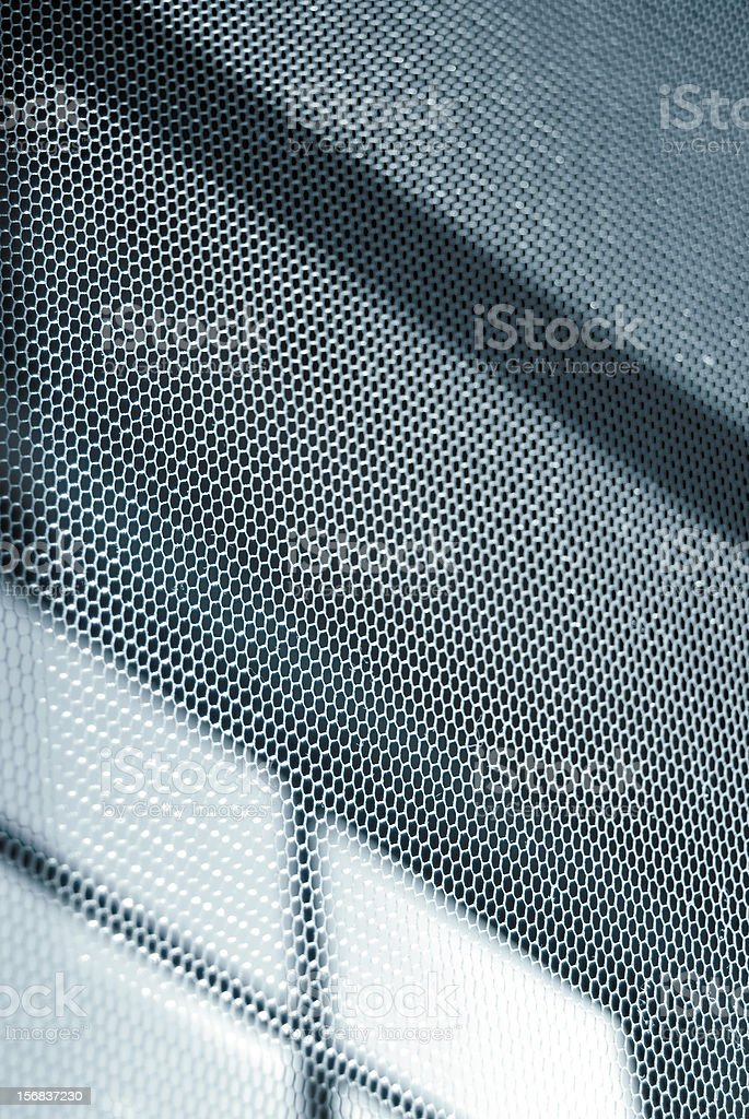 mesh abstract monochrome; mosquito net against window background royalty-free stock photo