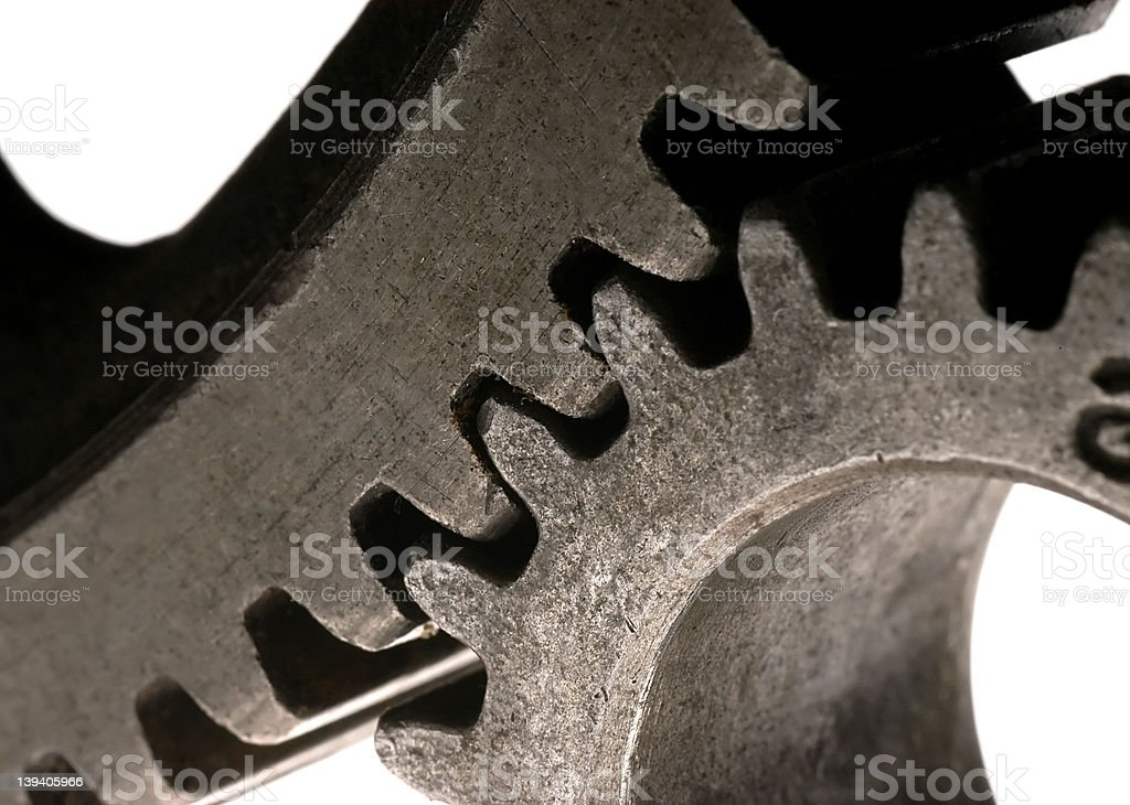 Meshing Gears royalty-free stock photo