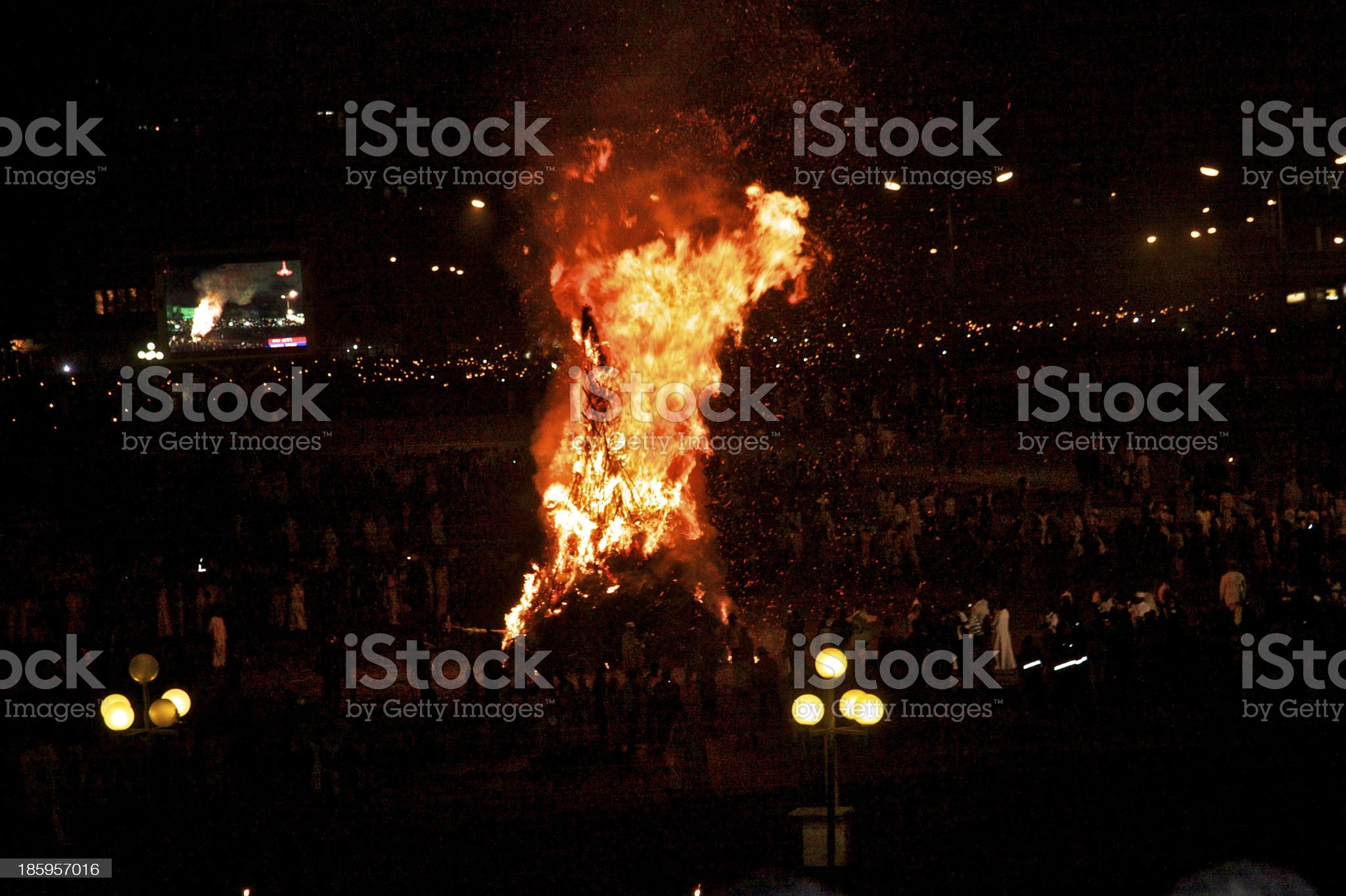 Meskel Fire in Addis Ababa royalty-free stock photo