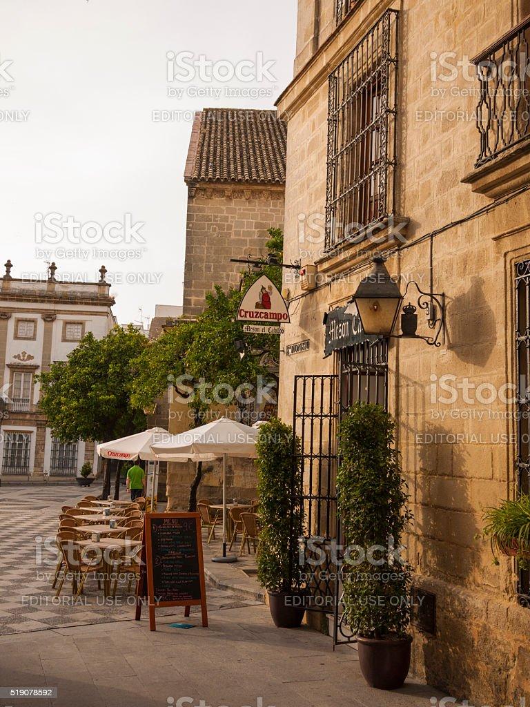 Meson El Cabildo in Jerez, Spain stock photo