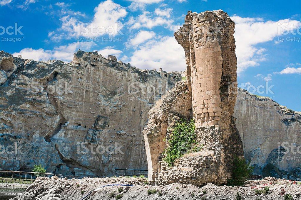 Mesopotamia landscape in Turkey,Hasankeyf stock photo