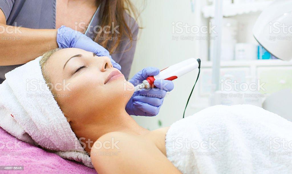Mesotherapy treatment. stock photo