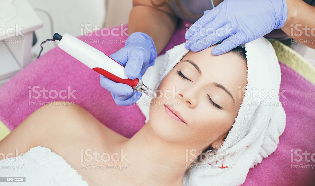 Mesotherapy treatment. stock photo