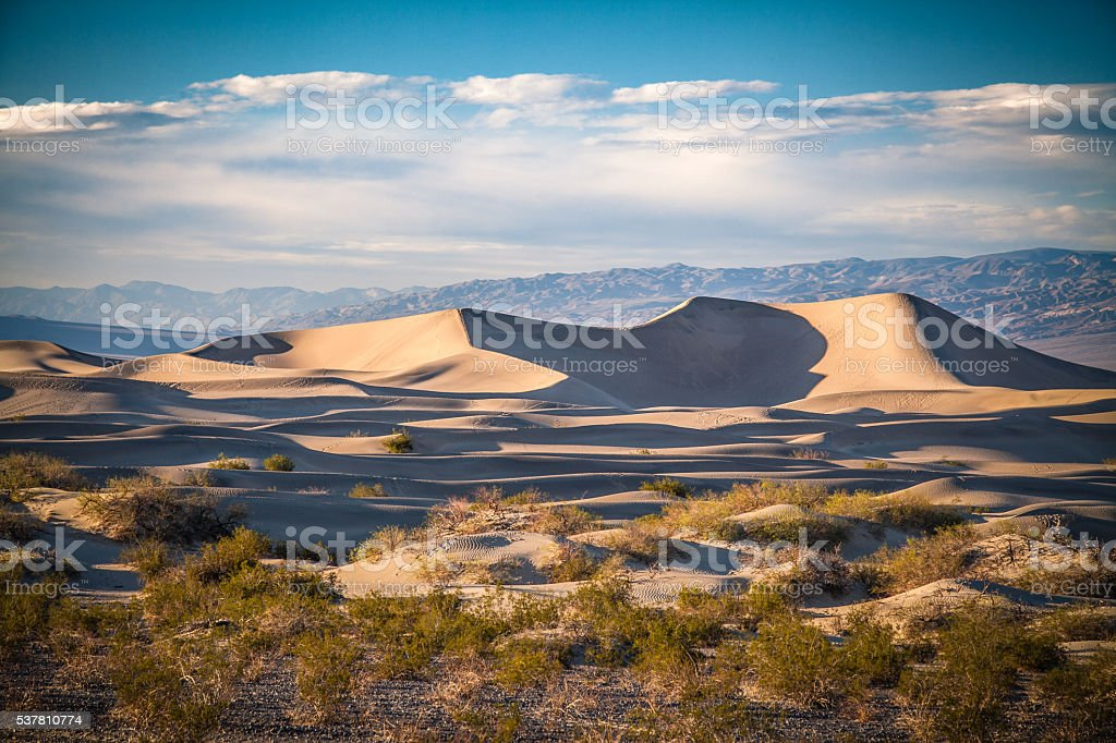 Mesquite Flat Dunes, Death Valley National Park royalty-free stock photo