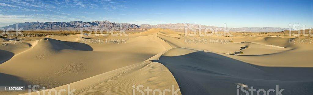 Mesquite Flat dunes Death Valley NP stock photo