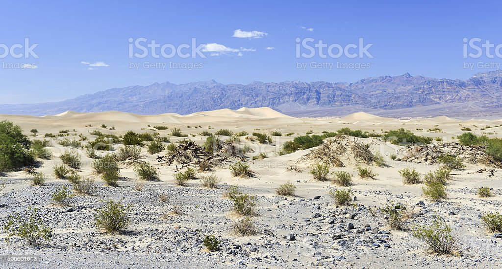 Mesquite Flat Sand Dunes, Death Valley stock photo