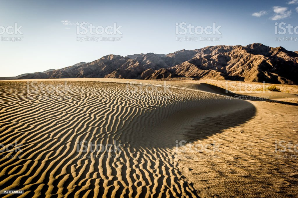 Mesquite Flat Sand Dunes Desert, Death Valley, California, USA stock photo