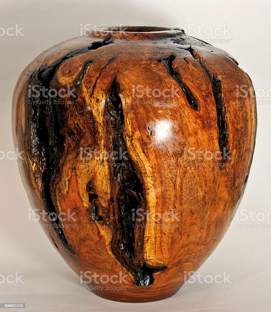 Mesquite Wood Vase stock photo