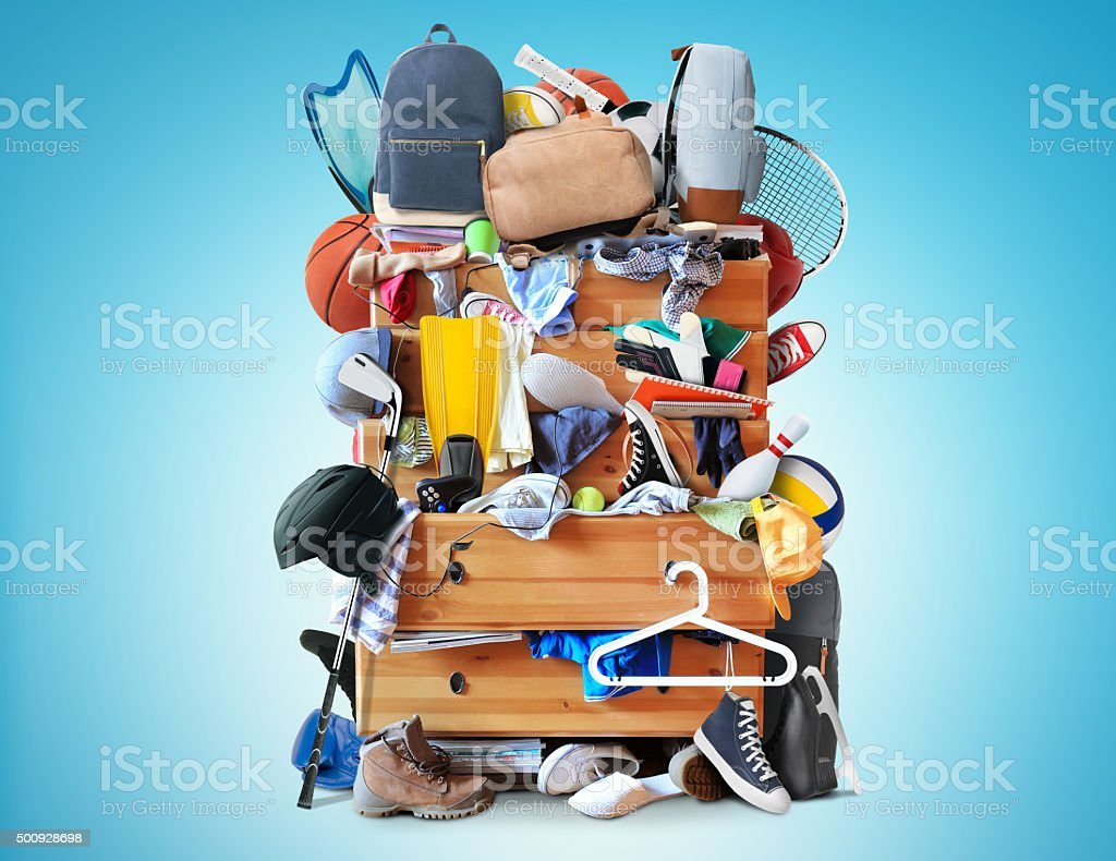 Mess, dresser stock photo