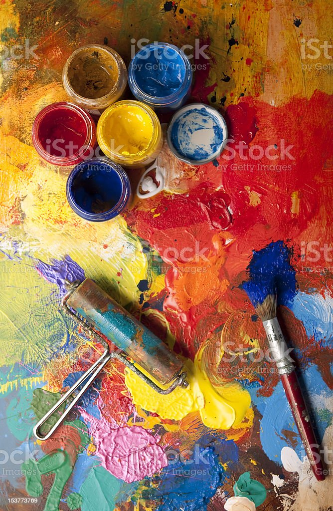Mess in the artstudio royalty-free stock photo
