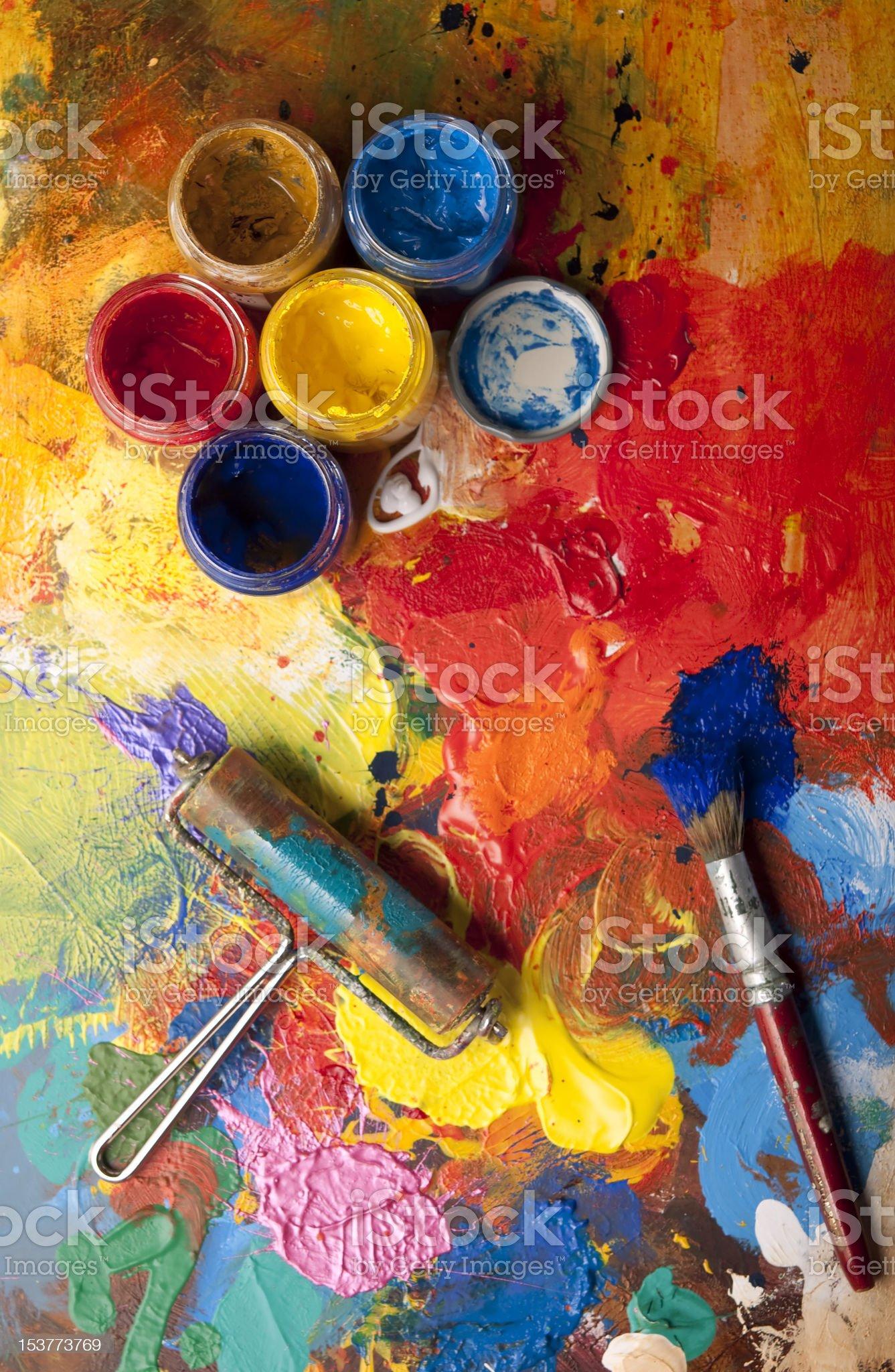 Mess in the artstudio royalty-free stock photo