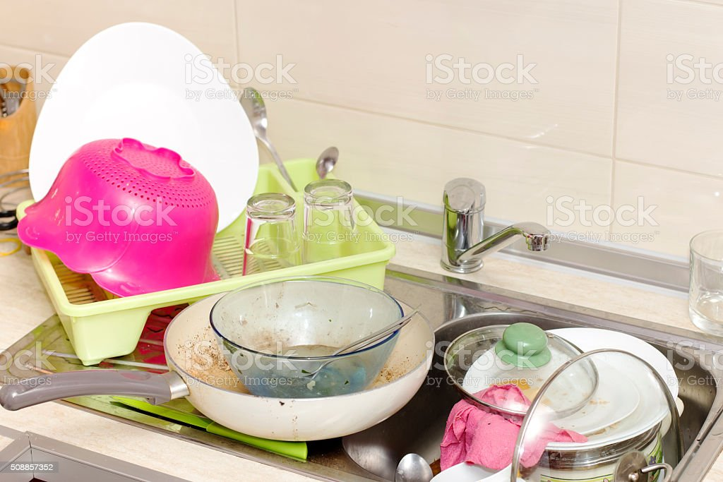 Mess in the kitchen stock photo