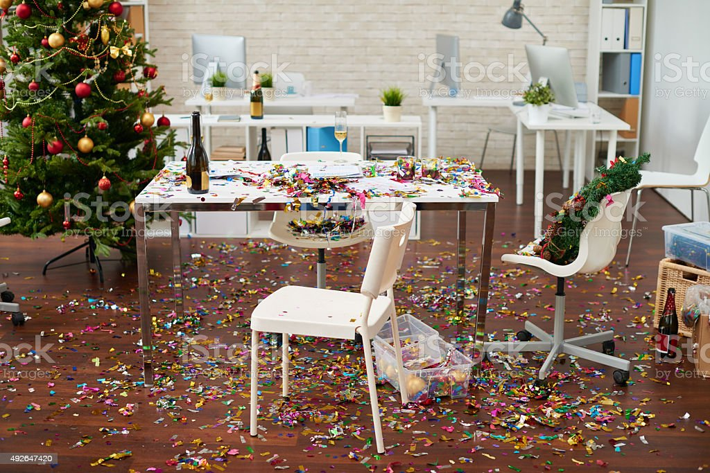 Mess in the office stock photo
