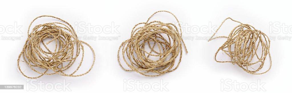 Mess Rope stock photo