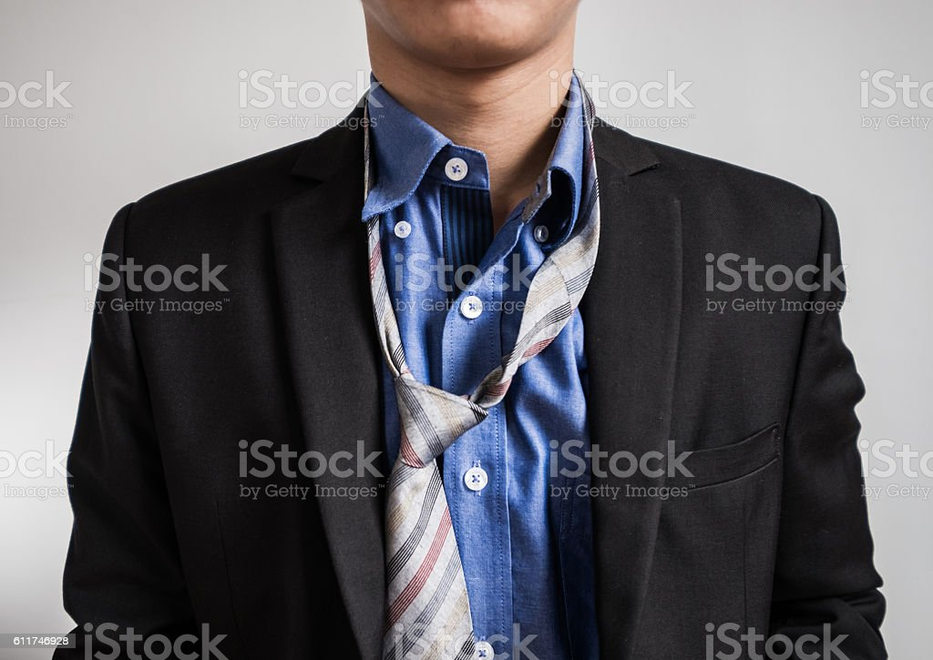 Mess unemployee dress suit, upper body stock photo