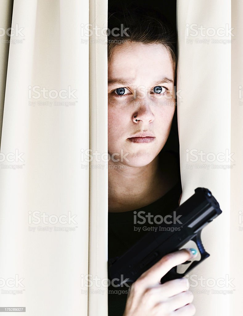 Mess with me and I will shoot you royalty-free stock photo