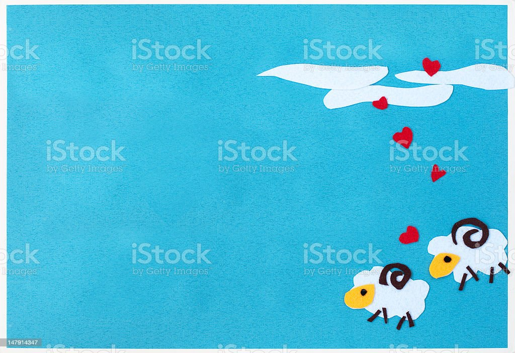 message board for lovely couple royalty-free stock photo