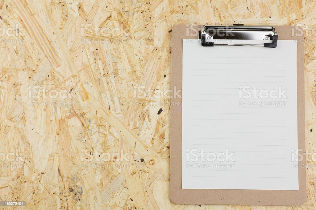Message board on the plywood royalty-free stock photo