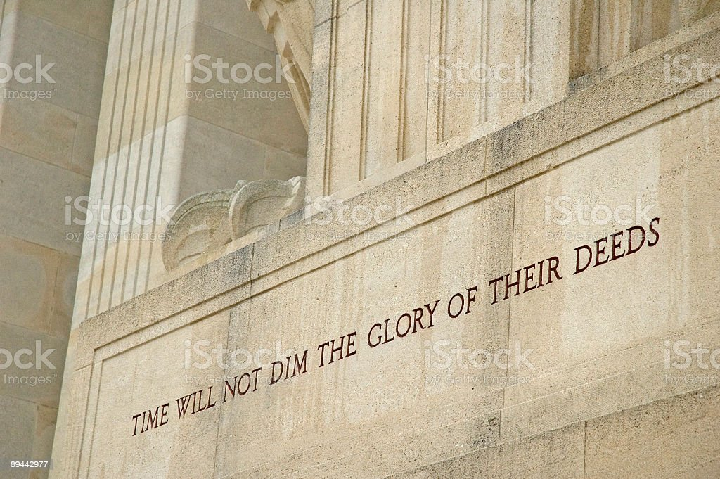 Message Carved in the Aisne-Marne American Memorial royalty-free stock photo