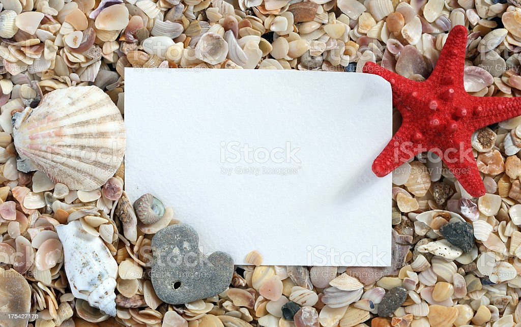 Message from the Sea royalty-free stock photo