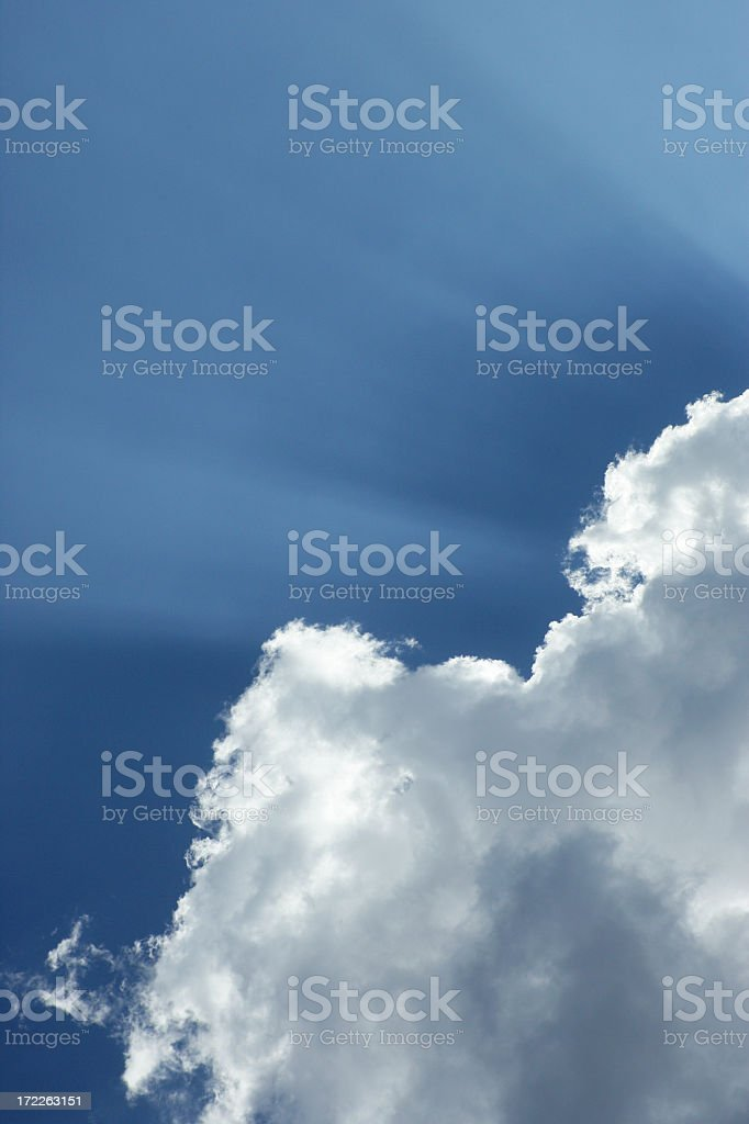 Message from the Sky royalty-free stock photo