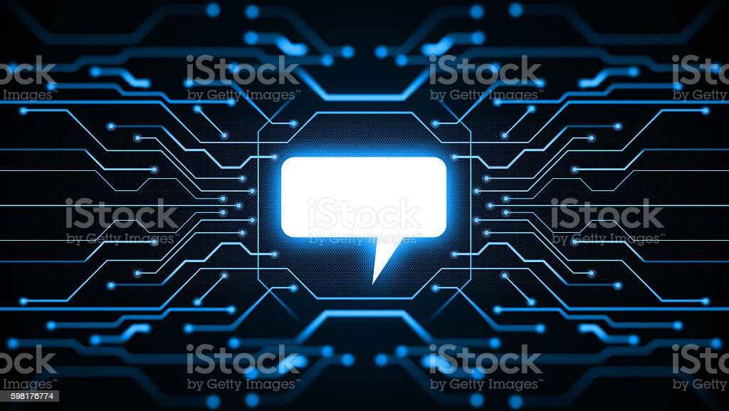 message icon stock photo
