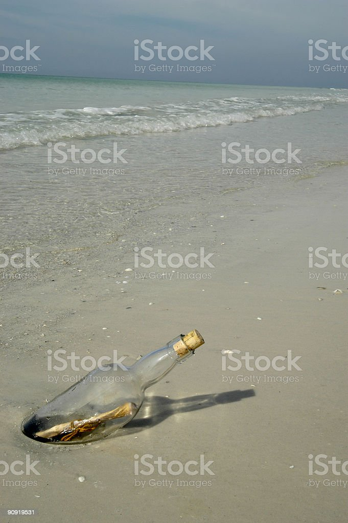 Message in a Bottle 2 stock photo