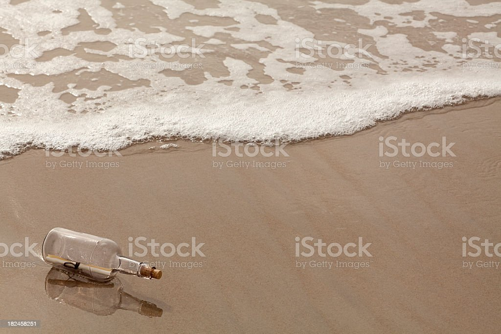 Message in a Bottle. Full Frame, Horizontal. royalty-free stock photo