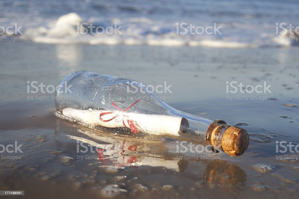 Message in a Bottle royalty-free stock photo