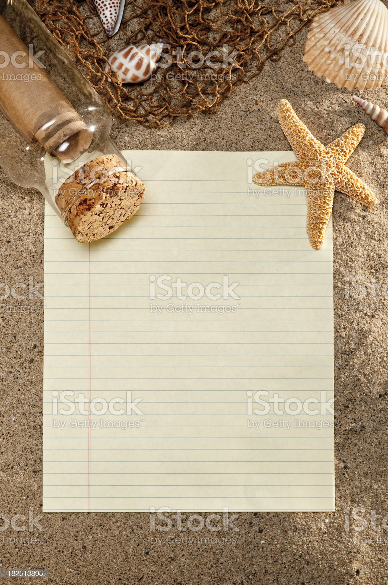 Message In A Bottle With Note Paper royalty-free stock photo
