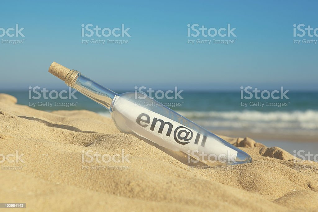 message in the bottle royalty-free stock photo