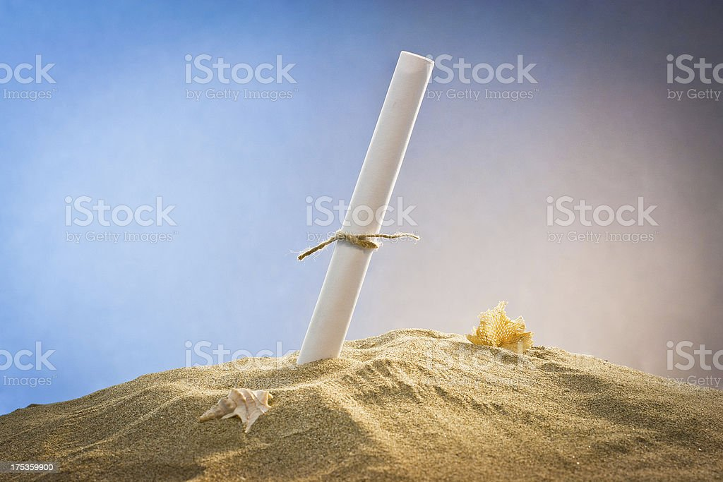 message in the sand royalty-free stock photo