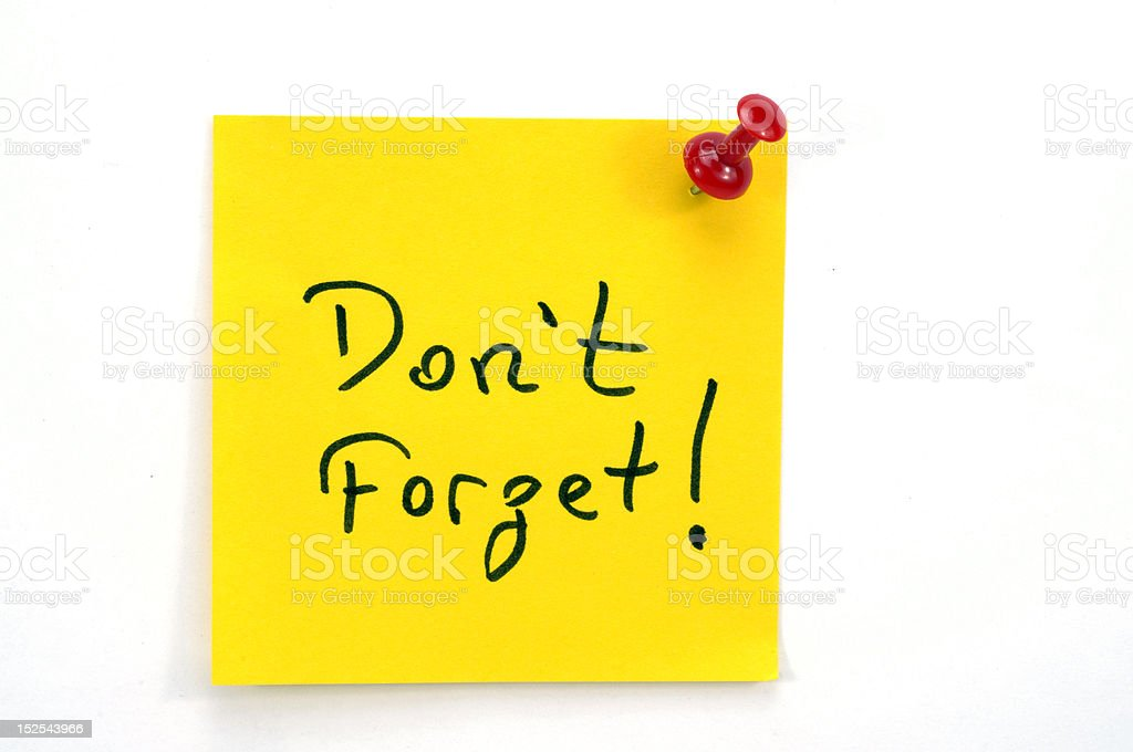 message note paper stock photo