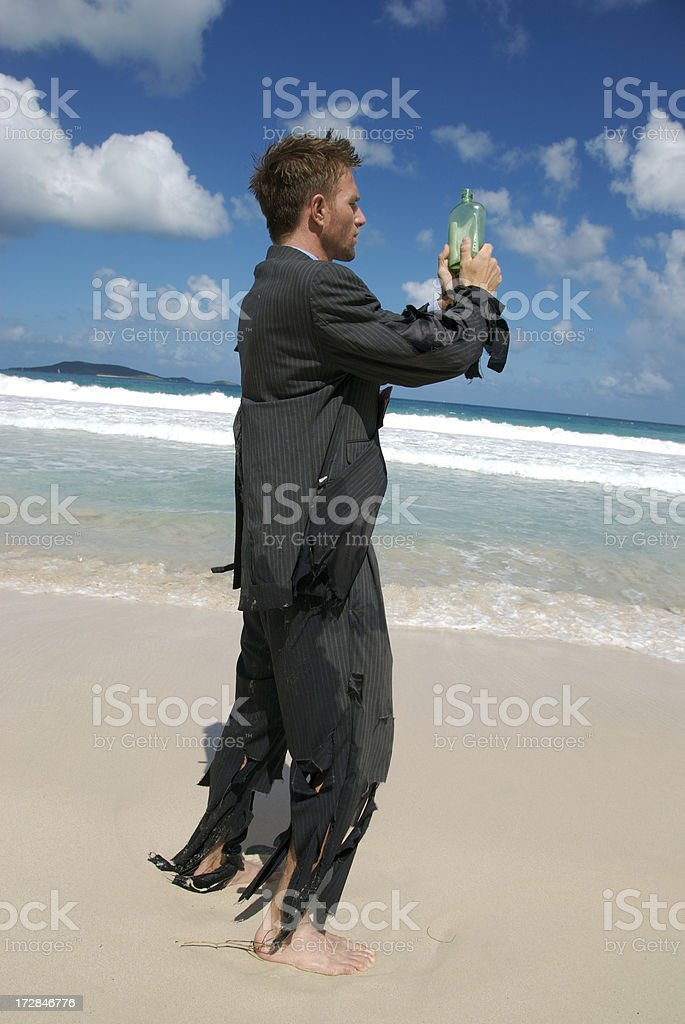 Message of Hope in a Bottle royalty-free stock photo