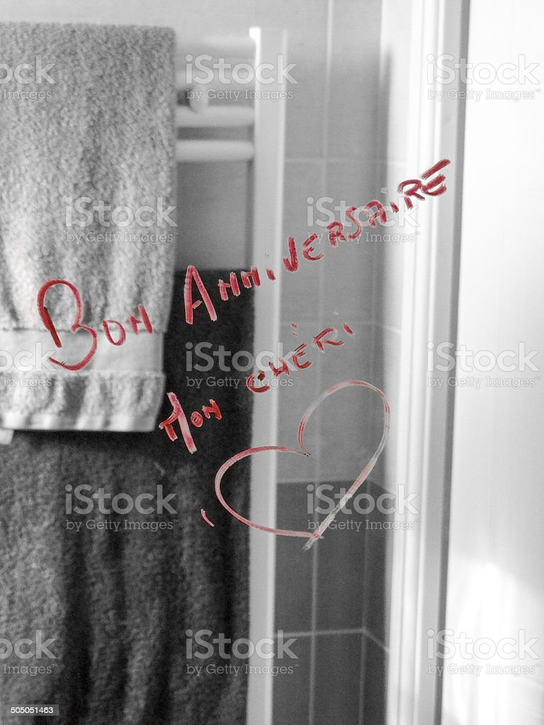 Message d'amour stock photo
