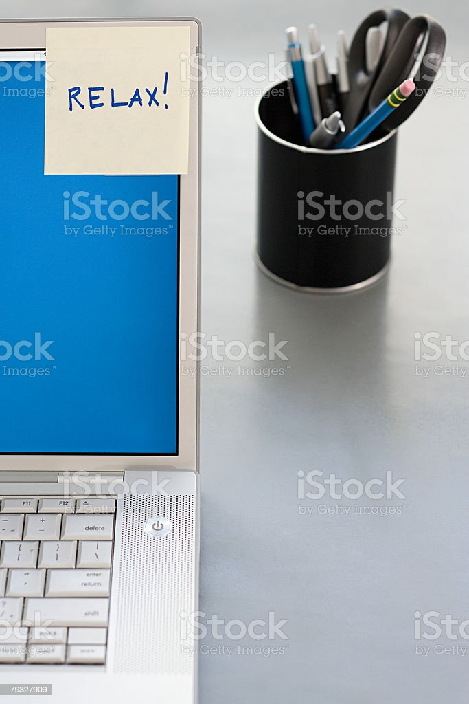 Message on an adhesive note royalty-free stock photo