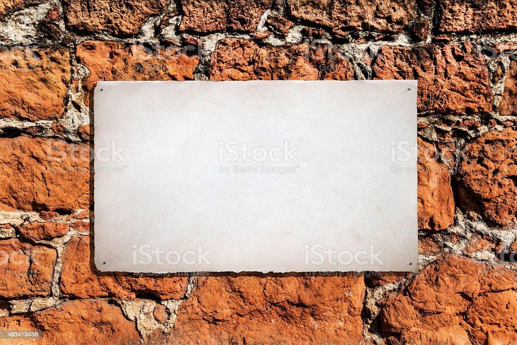 Message on brick wall stock photo