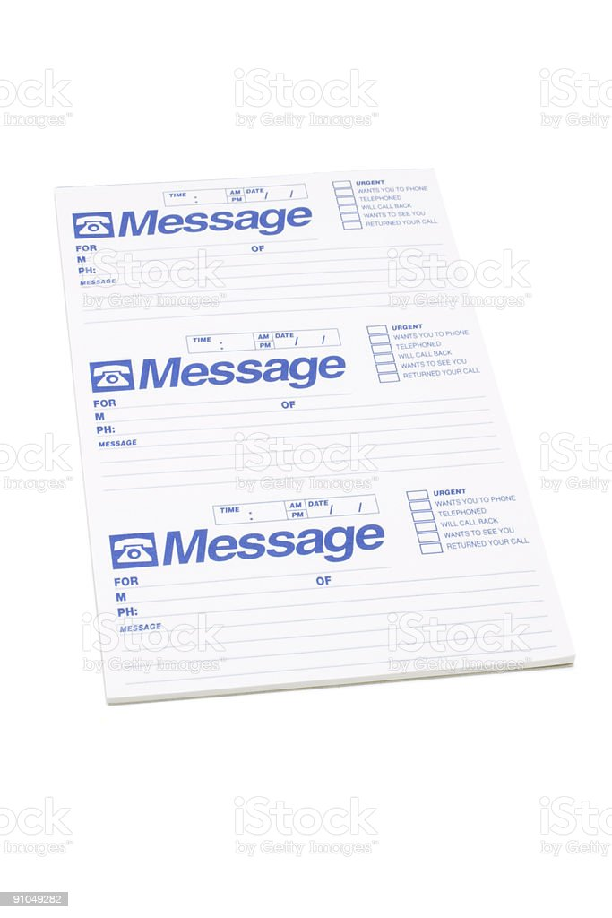 Message Pad stock photo