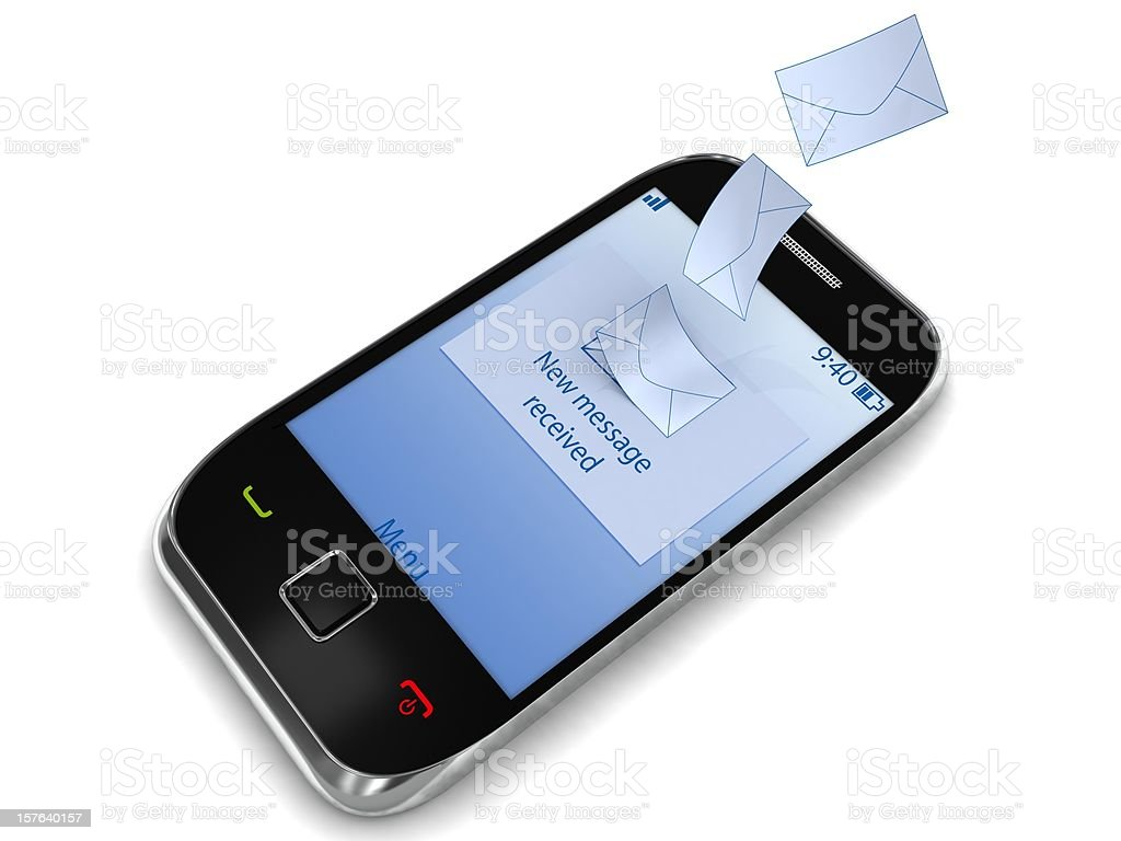 SMS Message royalty-free stock photo
