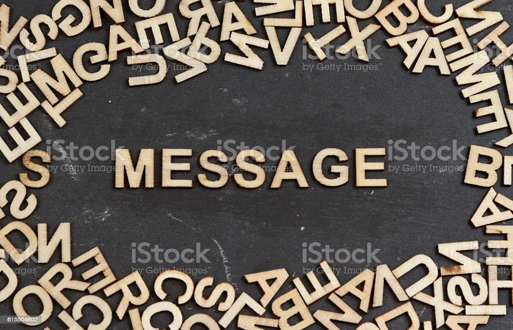 Message stock photo