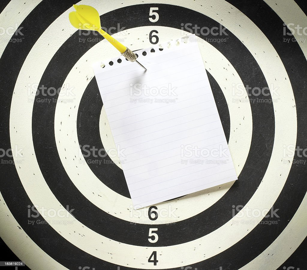 Message target royalty-free stock photo