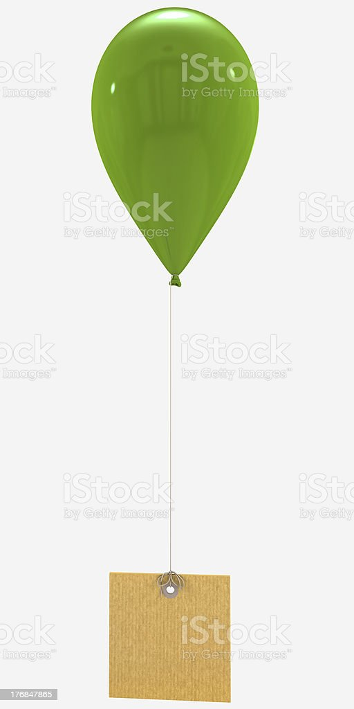 Message with green balloon royalty-free stock photo