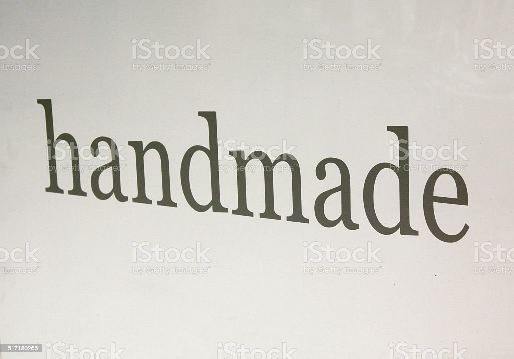 Message With The Word Handmade stock photo
