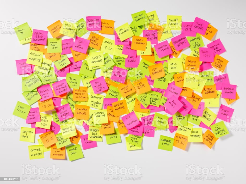 Messages on Postit Notes stock photo