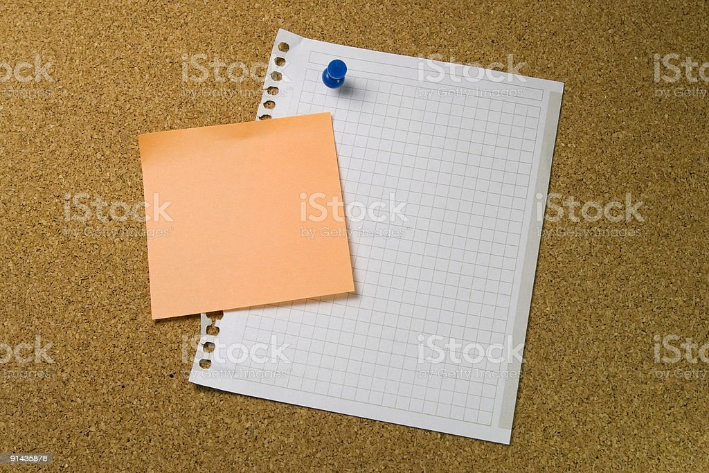 messages on sheets royalty-free stock photo