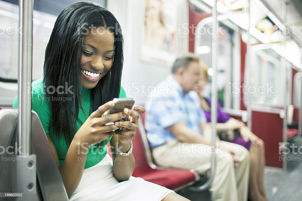 Messages on the train royalty-free stock photo