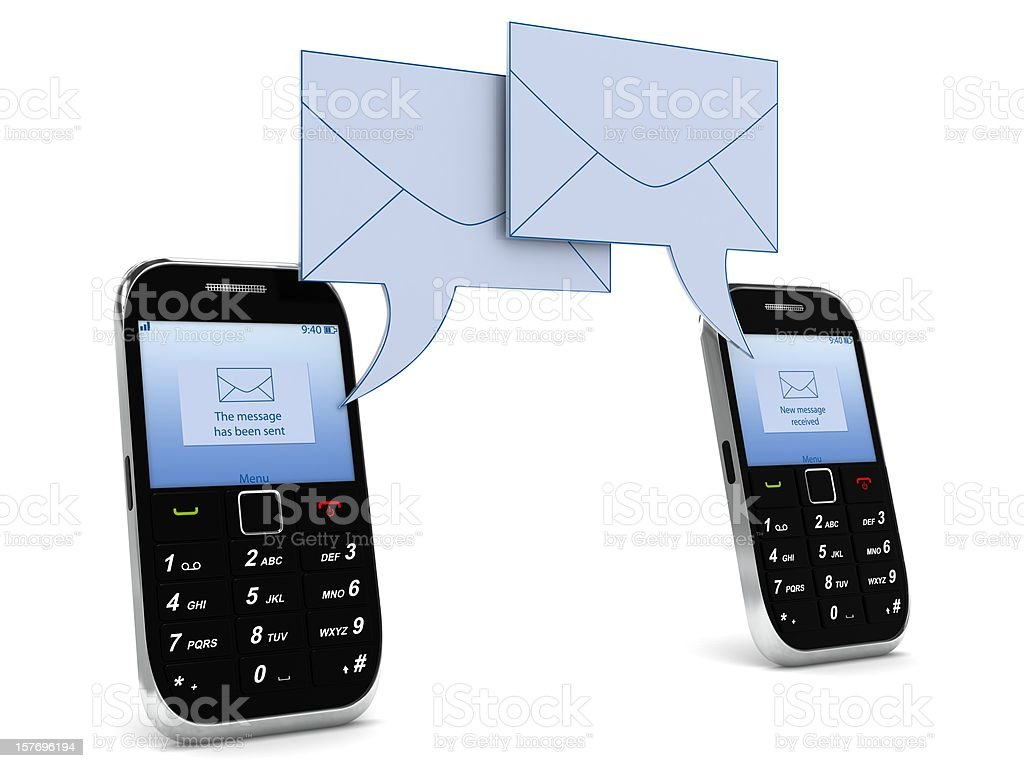 SMS Messaging royalty-free stock photo