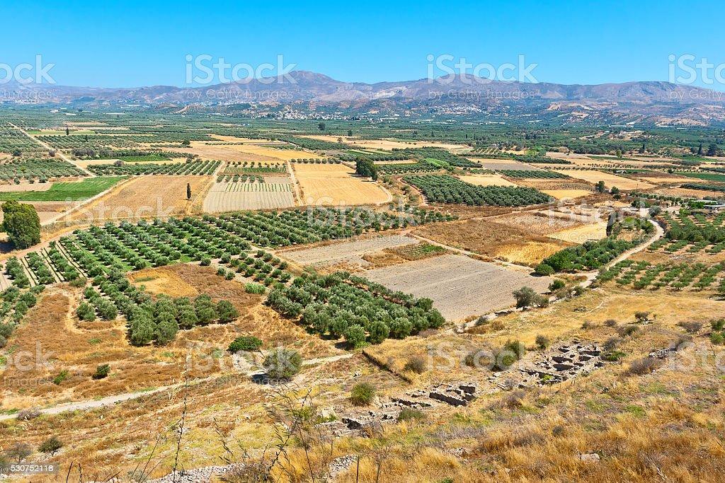 Messara plain. Crete, Greece stock photo